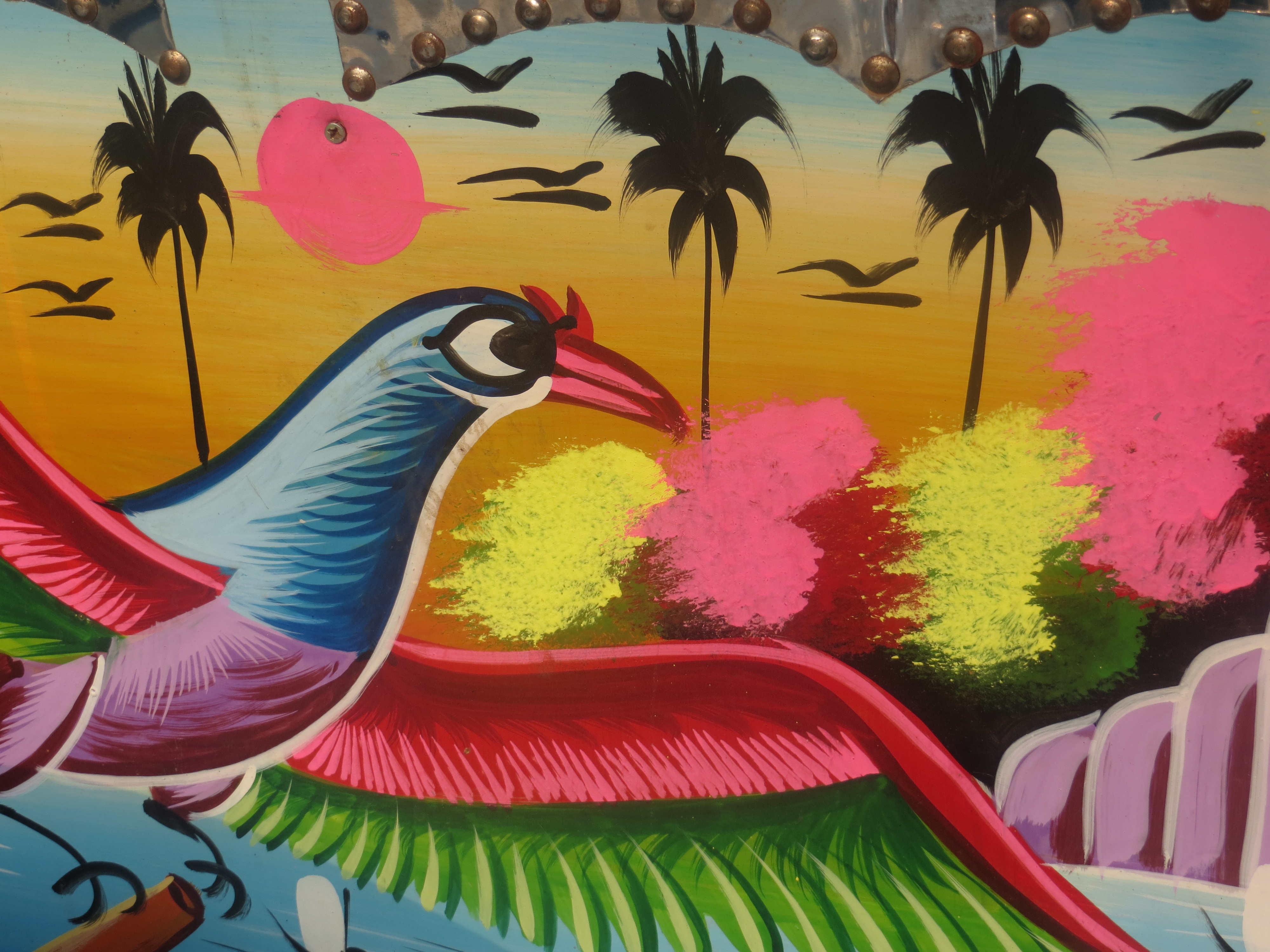 Bangladesh_rickshaw_art_bird_painting