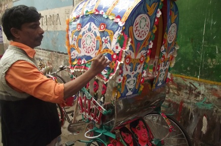 Rickshaw Art of Dhaka, Bangladesh