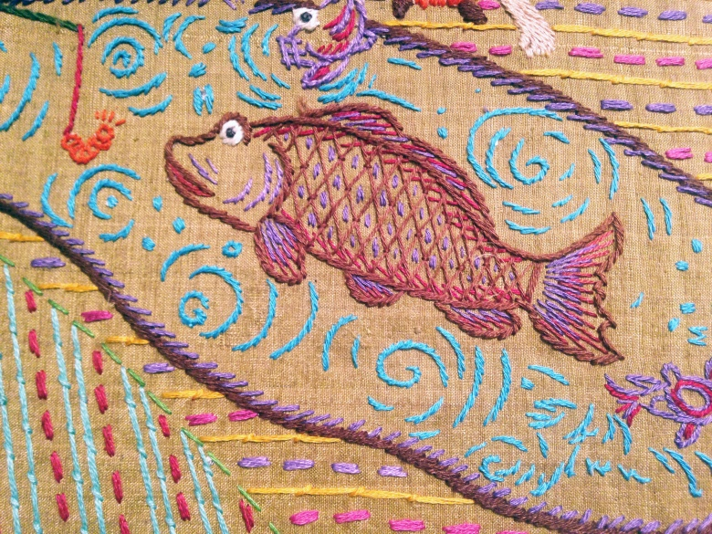 close up embroidered fish.JPG
