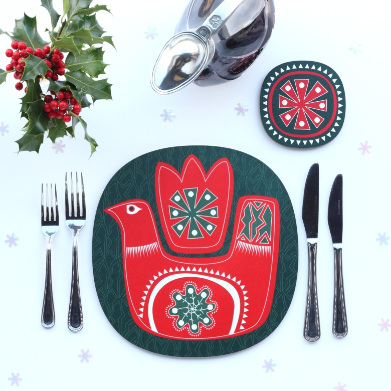 christmas-bird-design-christmas-placemat-red-on-green