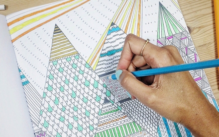 Designer Zeena Shah on her new Scandinavian themed colouring in book
