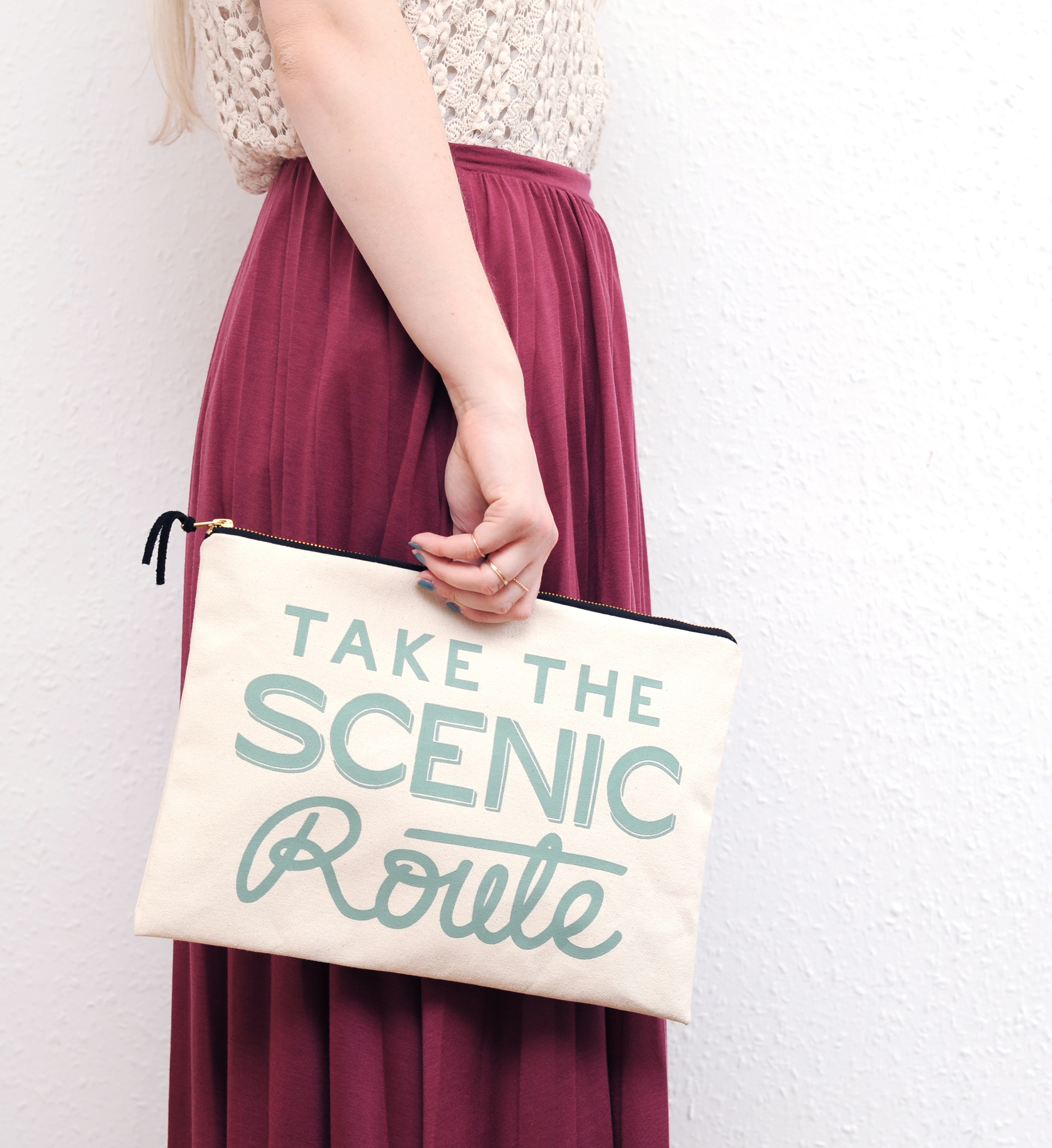 Extra Large Canvas Pouches - Take The Scenic Route.jpg