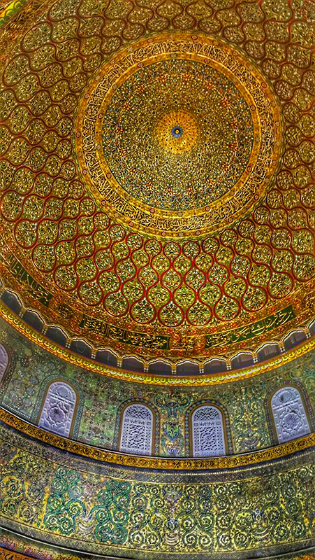 Ceiling_dome of the rock