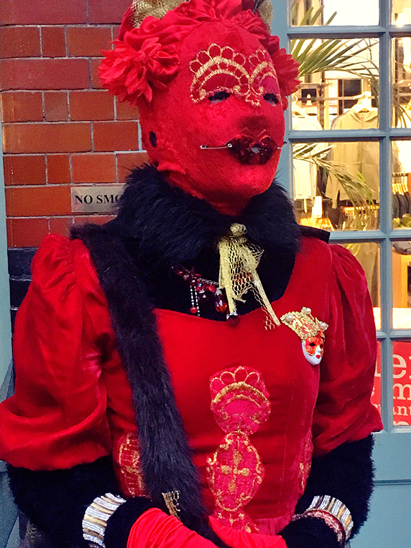 lady in red mask